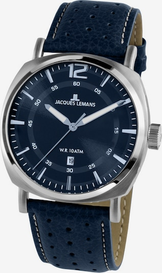 Jacques Lemans Uhr in dunkelblau / silber, Produktansicht