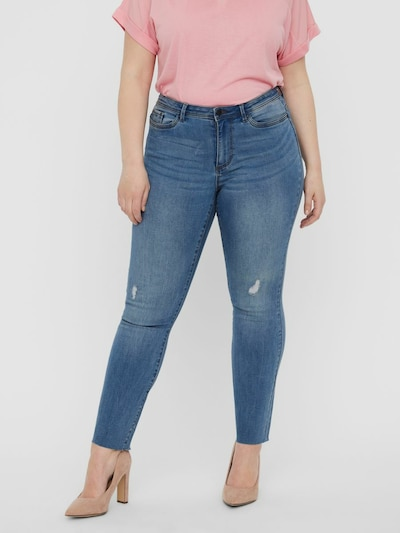 Vero Moda Curve Hose in blue denim, Modelansicht