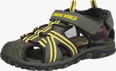 Jurassic World Sandale in gelb / oliv / schwarz, Produktansicht