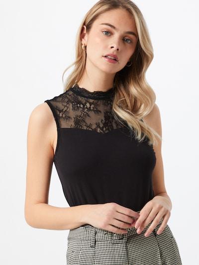 PIECES Bluse 'PINA' in schwarz, Modelansicht