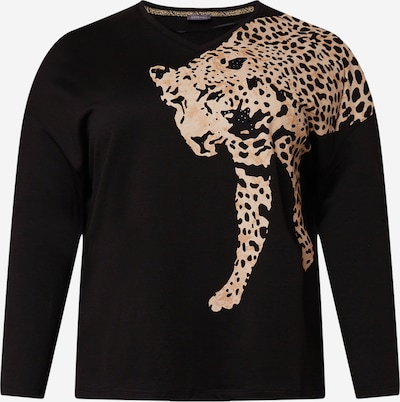 SAMOON Sweatshirt in de kleur Cappuccino / Lichtbruin / Zwart, Productweergave