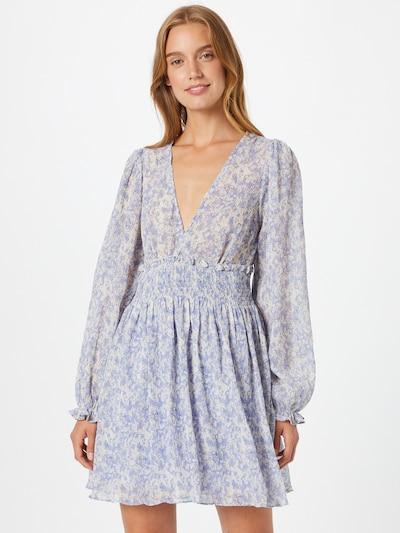 NA-KD Kleid in hellblau / gelb / weiß, Modelansicht