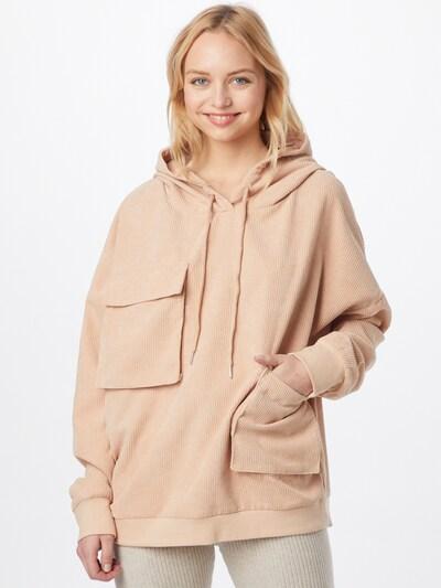 Missguided Sweatshirt in pfirsich: Frontalansicht