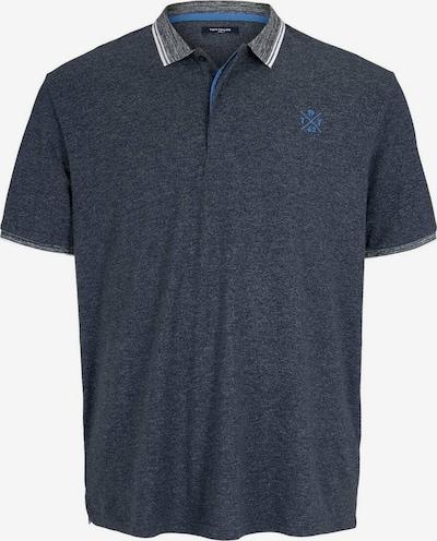 TOM TAILOR Men + Poloshirts in blaumeliert / grau, Produktansicht