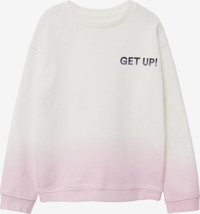 MANGO KIDS Sweatshirt in hellpink / weiß, Produktansicht