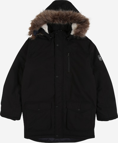 NAME IT Parka 'MIBIS' in braun / schwarz, Produktansicht