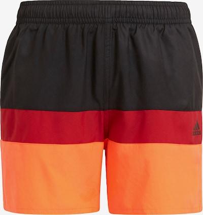 ADIDAS PERFORMANCE Maillot de bain de sport en orange / rouge / noir, Vue avec produit