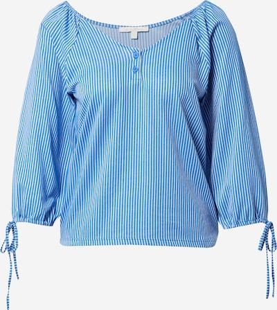 Tricou TOM TAILOR DENIM pe albastru / alb, Vizualizare produs