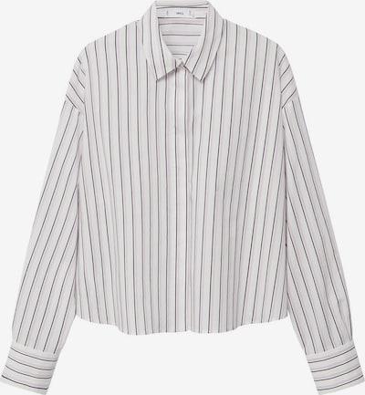MANGO Bluse in anthrazit / lila / weiß, Produktansicht