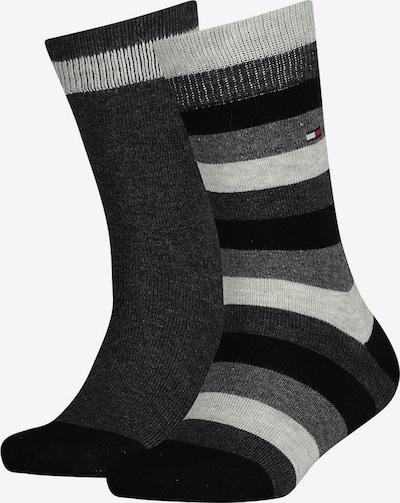 TOMMY HILFIGER Socken in grau / hellgrau / schwarz: Frontalansicht