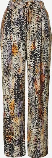 Klostuotos kelnės 'ABSTRACT' iš River Island, spalva – ruda / mišrios spalvos, Prekių apžvalga