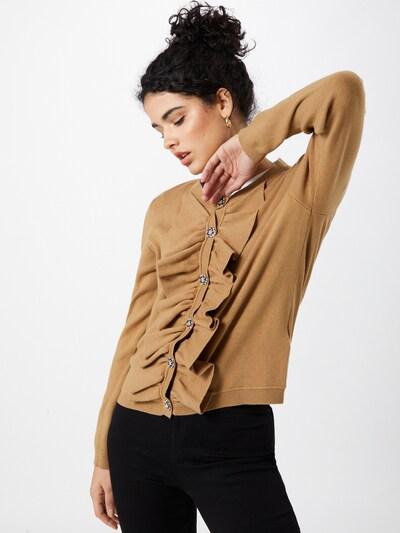VILA Strickjacke 'FOUNCE' in hellbraun, Modelansicht