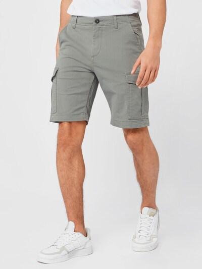 JACK & JONES Pantalon cargo en gris clair, Vue avec modèle