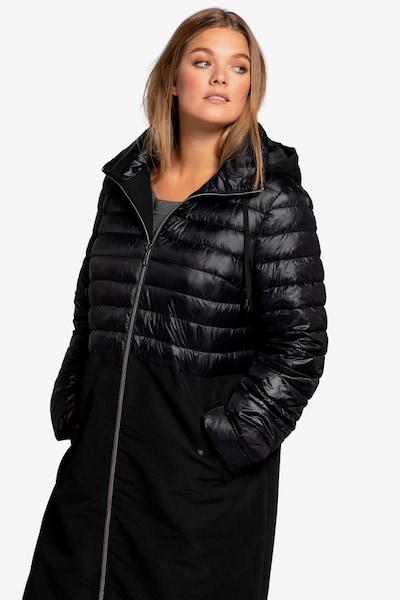 Ulla Popken Mantel in schwarz, Modelansicht