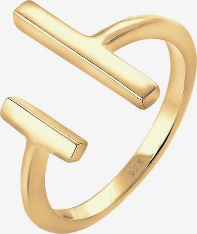 ELLI Ring 'Geo' in gold, Produktansicht