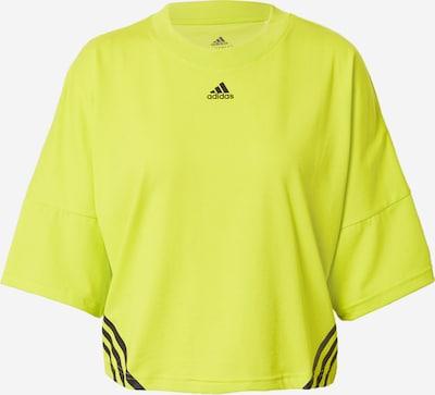 ADIDAS PERFORMANCE Functioneel shirt in de kleur Neongeel / Zwart, Productweergave