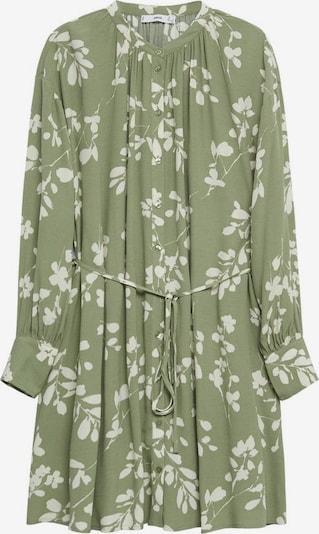 MANGO Kleid 'Flor' in pastellgrün / weiß, Produktansicht