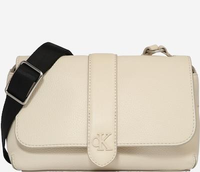 Calvin Klein Jeans Pleca soma, krāsa - krēmkrāsas / melns, Preces skats