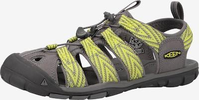 KEEN Sandalen 'Clearwater' in de kleur Lichtgeel / Grijs, Productweergave