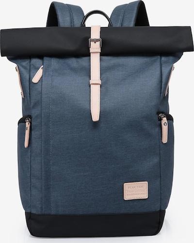 Peak Time Rucksack in nude / blau / navy, Produktansicht