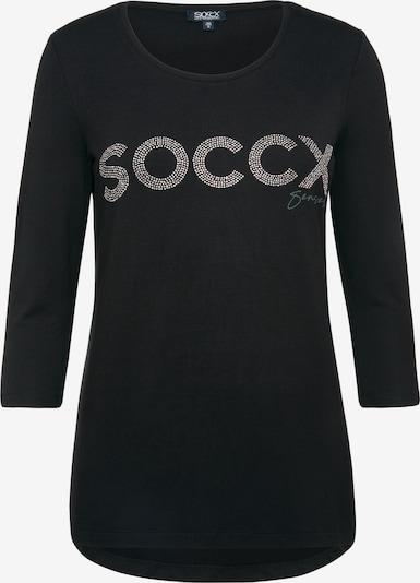 Soccx Shirt mit Logo aus Glitzersteinen in schwarz, Produktansicht