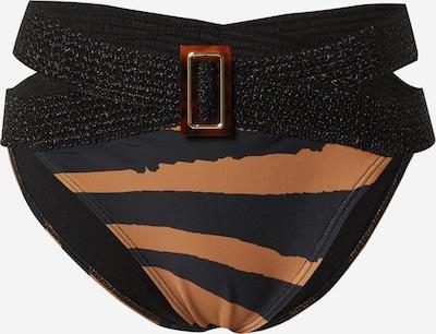 Slip costum de baie River Island pe albastru noapte / caramel / maro deschis / negru, Vizualizare produs