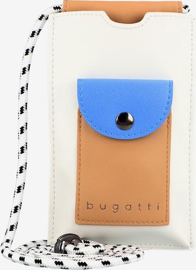 bugatti Smartphonehoesje 'Alma ' in de kleur Donkerbeige / Blauw / Wit, Productweergave