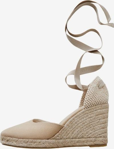 MANGO Sandaletten 'Playa' in nude, Produktansicht