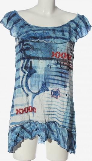 Tredy Long-Bluse in L in blau / weiß, Produktansicht
