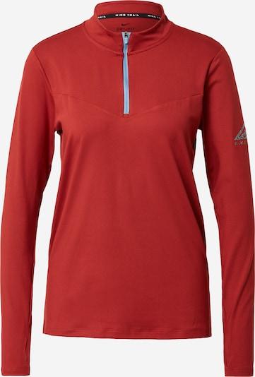NIKE Tehnička sportska majica u sivkasto plava / crvena, Pregled proizvoda
