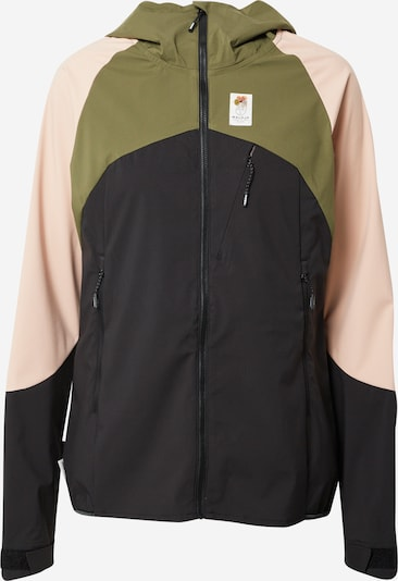 Maloja Outdoor jacket 'Emerita' in Olive / Pink / Black, Item view
