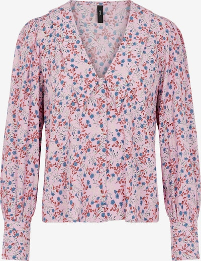 Y.A.S Bluse in himmelblau / lila / rostrot / offwhite, Produktansicht