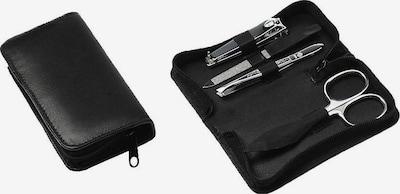 Hans Kniebes Manicure-Etui in schwarz / silber, Produktansicht
