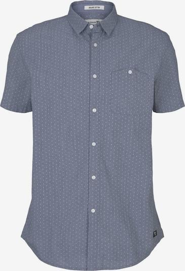 TOM TAILOR DENIM Hemd in taubenblau / weiß, Produktansicht