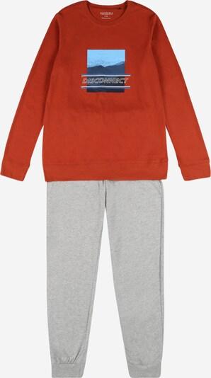 SCHIESSER Pijama en navy / azul claro / marrón rojizo / gris, Vista del producto