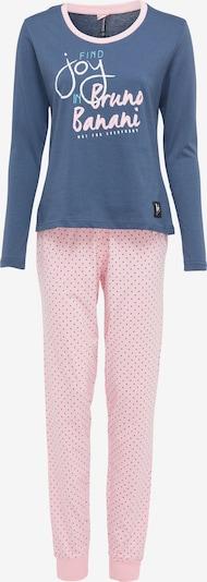 BRUNO BANANI Pyjama in de kleur Blauw / Lichtroze, Productweergave
