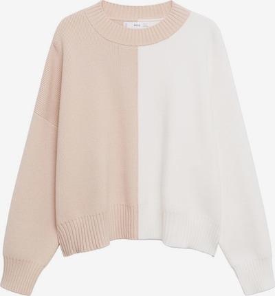 MANGO Pullover 'Planner 2' in rosa / weiß, Produktansicht