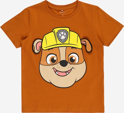 NAME IT Shirt 'PAW PATROL' in de kleur Geel / Sinaasappel / Rosa / Zwart, Productweergave