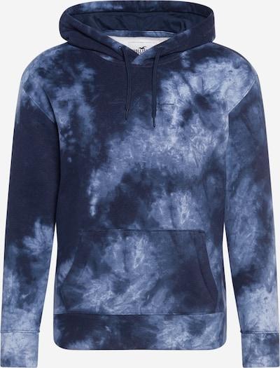 HOLLISTER Sweat-shirt en bleu marine / bleu fumé / blanc, Vue avec produit