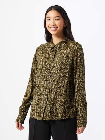 Samsoe Samsoe Blouse 'Milly' in Yellow / Green / Black, View model