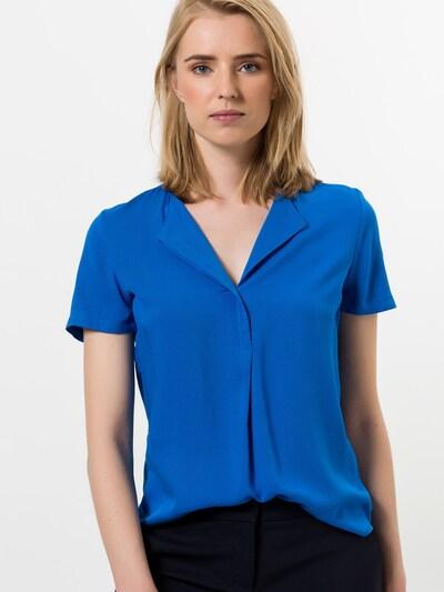 zero Bluse in blau: Frontalansicht