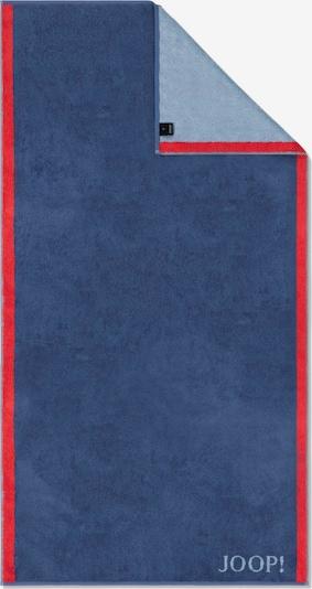JOOP! Badlaken in de kleur Lichtblauw / Donkerblauw / Bloedrood, Productweergave