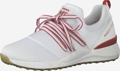 MARCO TOZZI Baskets basses en rouge foncé / blanc, Vue avec produit