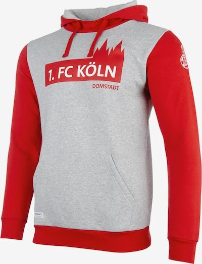 UHLSPORT Sweatshirt 'FC Köln' in graumeliert / rot, Produktansicht