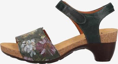 THINK! Sandale in braun / grün / mischfarben, Produktansicht