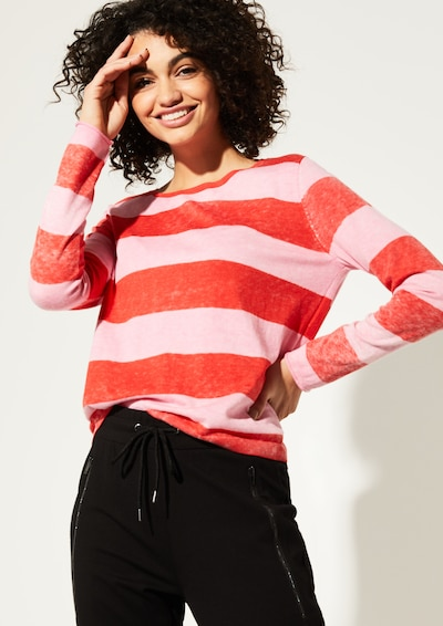 Ci comma casual identity Pullover in hellpink / rot, Modelansicht