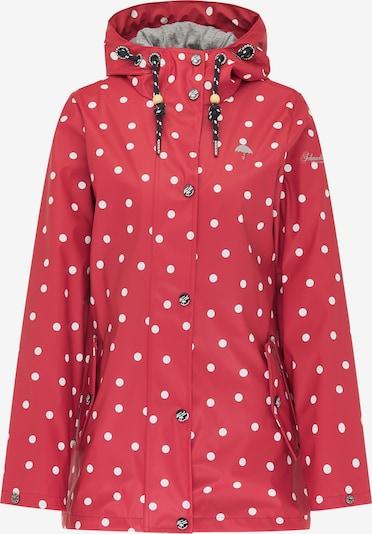Schmuddelwedda Tussenjas in de kleur Rood / Wit, Productweergave