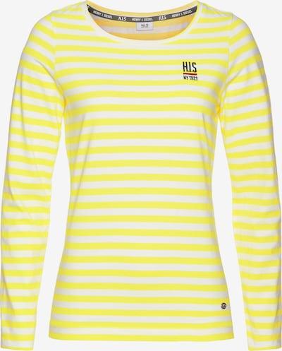 HIS JEANS Shirt in gelb / weiß, Produktansicht