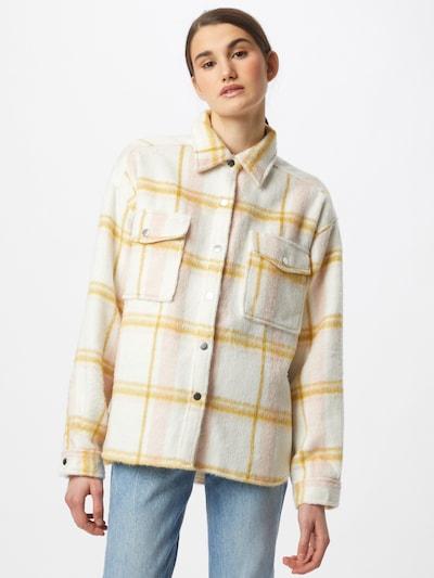 Gina Tricot Prehodna jakna 'Fanny' | zlato-rumena / roza / naravno bela barva, Prikaz modela