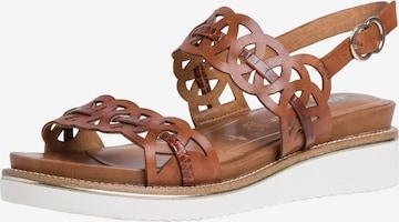 TAMARIS Sandały w kolorze brązowy